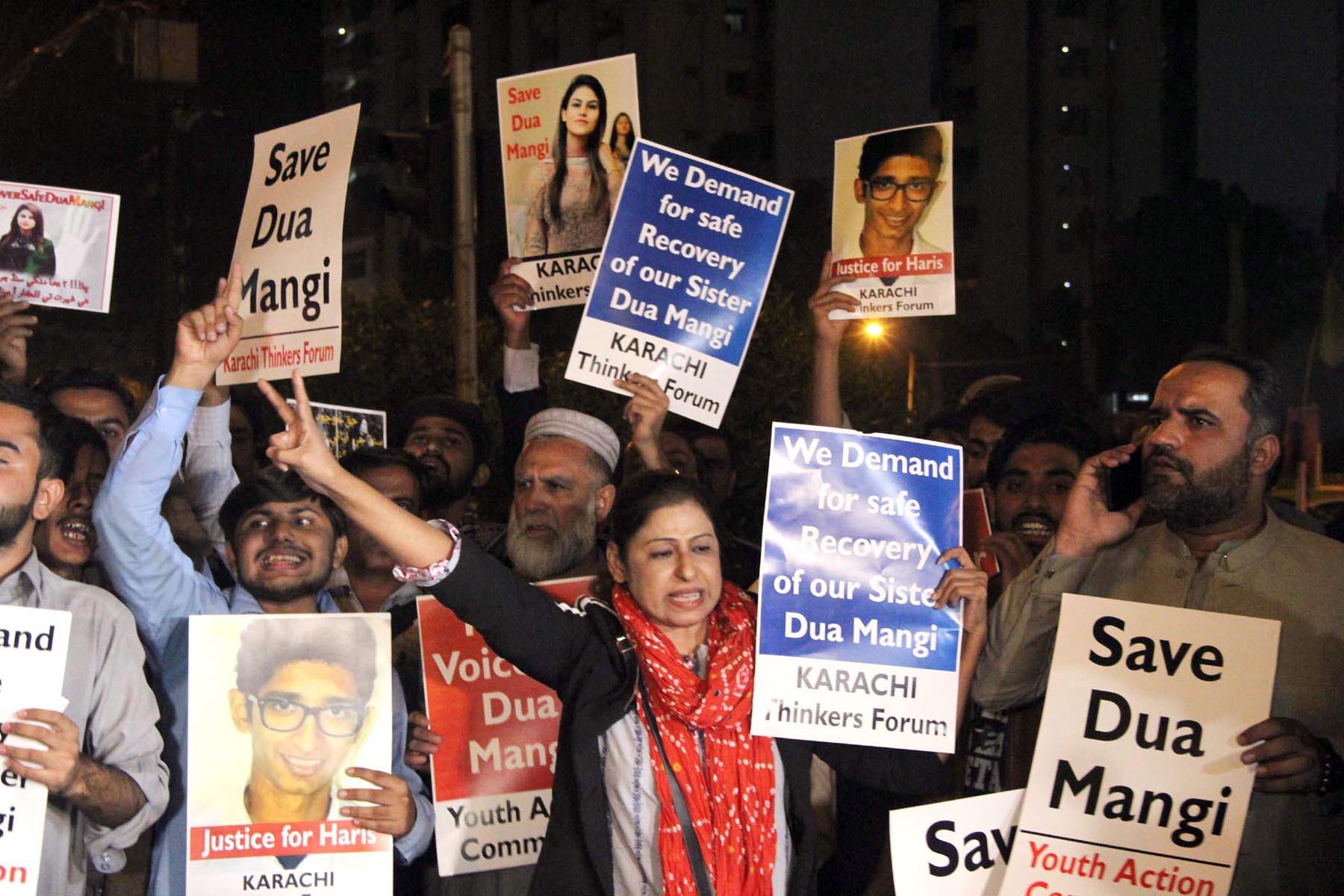 dua mangi s abduction releases social media vitriol against her
