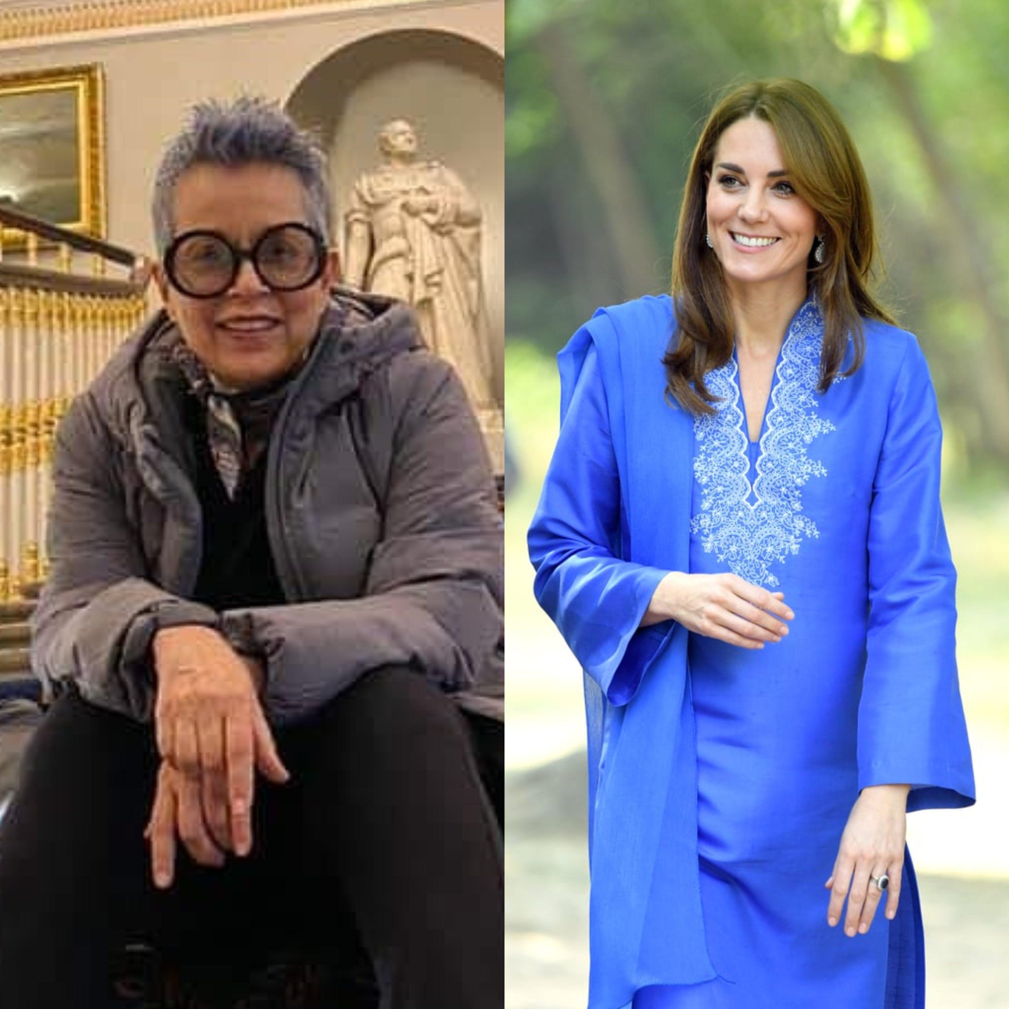 kate middleton warmly thanks maheen khan for dressing her during pakistan trip