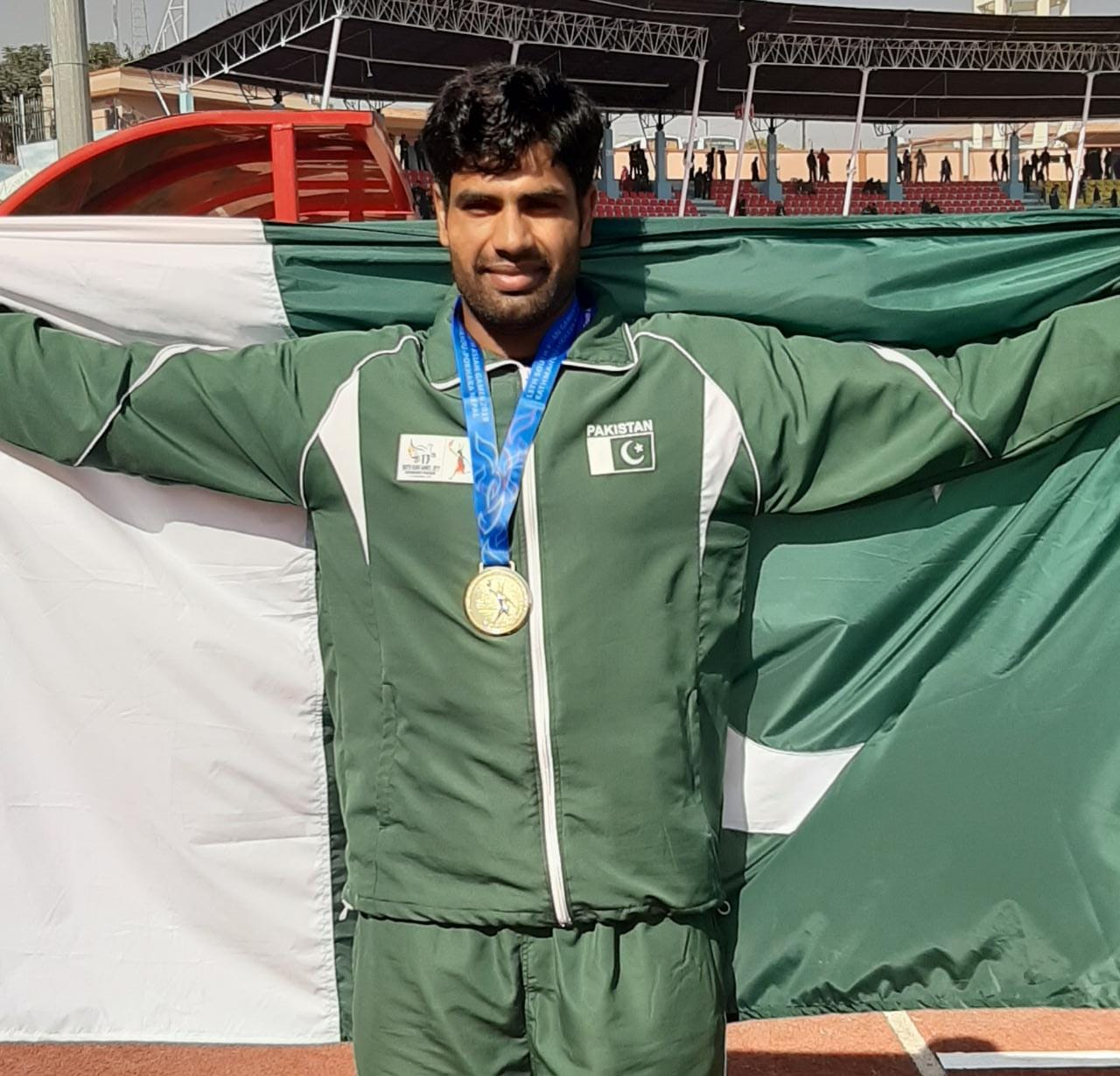 2019 sag pakistan s javelin thrower arshad nadeem wins gold qualifies for 2020 olympics