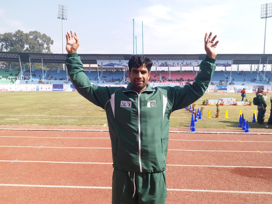 pakistan javelin thrower arshad eyes olympic gold after south asian games glory