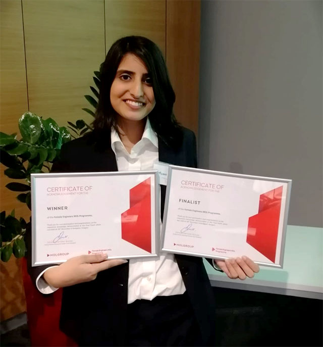 women in stem nust student lands job at fortune 500 firm after winning competition in hungary