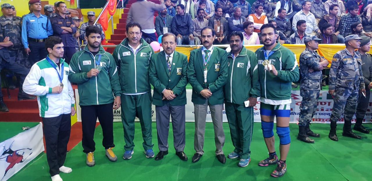 pakistan beat bhutan maldives on sag medals table