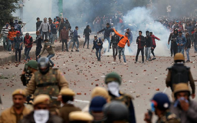 in pictures protests erupt across india over anti muslim law