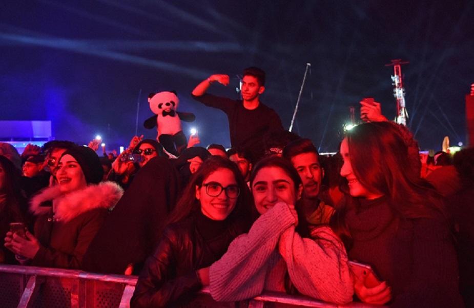in pictures saudi arabia s biggest beast music festival begins