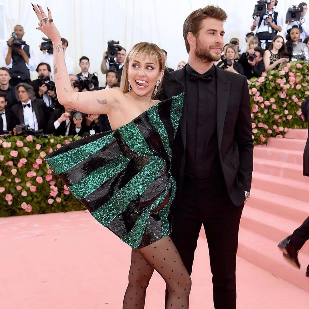 miley cyrus jokes about her short lived marriage with liam hemsworth