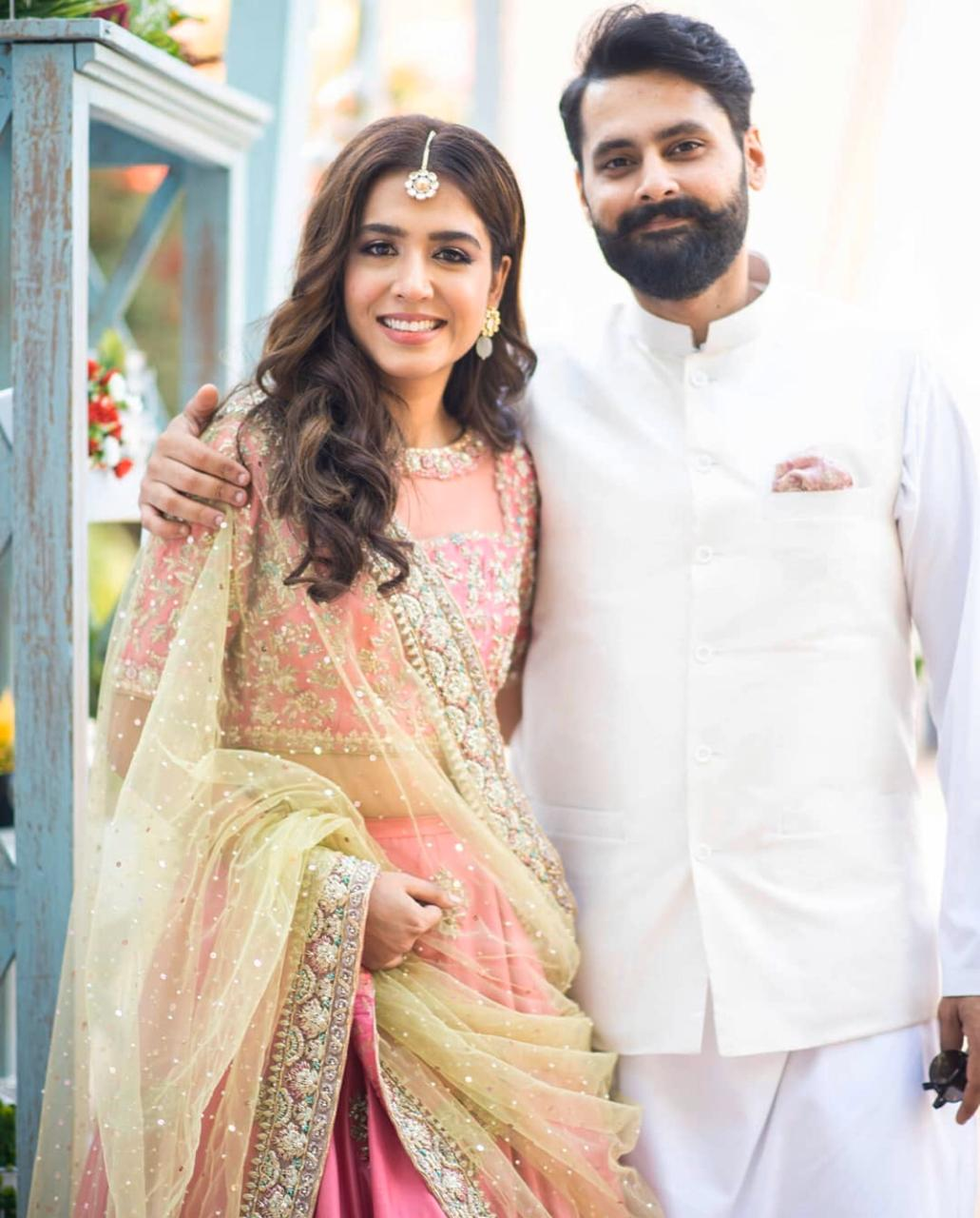 jibran nasir and mansha pasha get engaged in an intimate ceremony