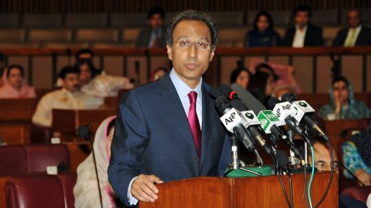 finance minister hafeez shaikh is presenting the budget photo afp file