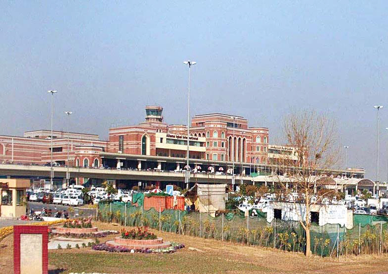 A file photo of Allama Iqbal International Airport in Lahore. PHOTO: APP