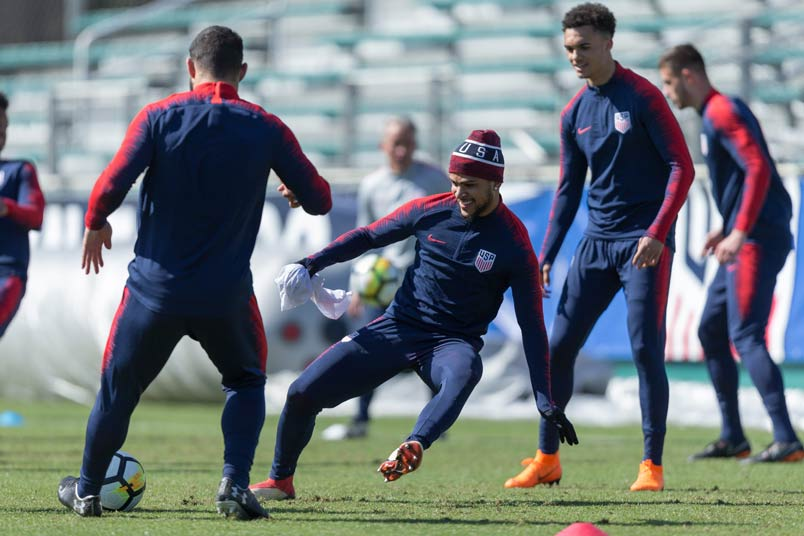 RESCHEDULED: US' games will go ahead as planned, US Soccer said, but they are now working on an alternative schedule to prepare for the fixtures. PHOTO: AFP