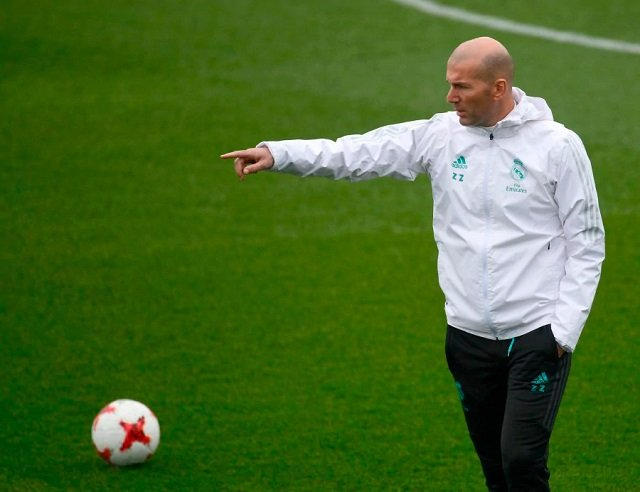 we re not here for a walk zidane says of super cup