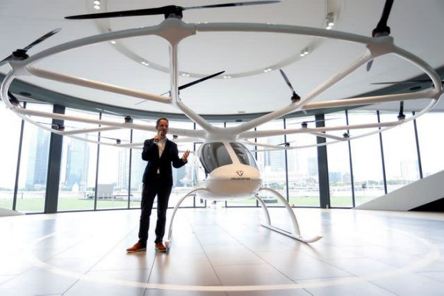 florian reuter ceo of german startup volocopter speaks to the media in singapore october 22 2019 photo reuters