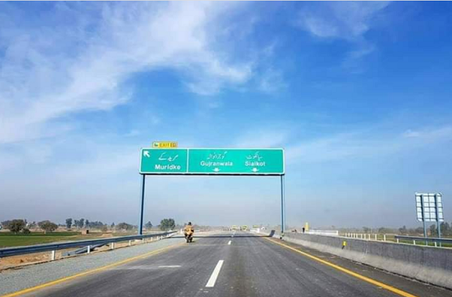 first section of lahore sialkot motorway opens for public