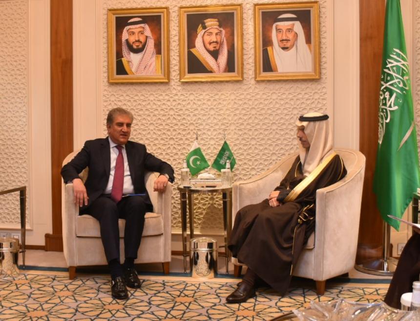 fm qureshi meets his saudi counterpart prince faisal bin farhan in riyadh photo express