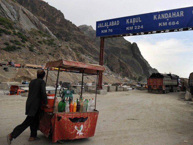 A file photo of the Pak-Afghan border. PHOTO: AFP