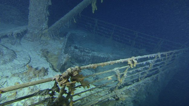 Remains of the ship lie largely intact 2.5 miles (four kilometres) below the surface of the north Atlantic Ocean. PHOTO: FILE