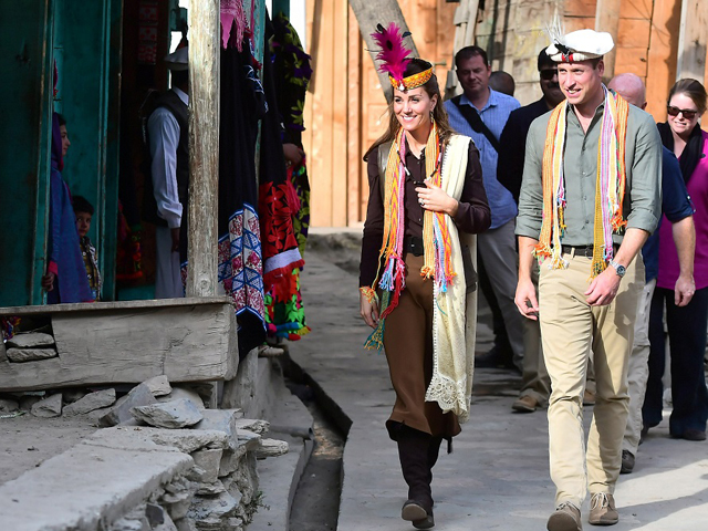 William and Kate visit a settlement of the Kalash people in Chitral. PHOTO: REUTERS/FILE