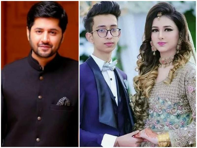 imran ashraf speaks in support of viral 18 year old newlyweds