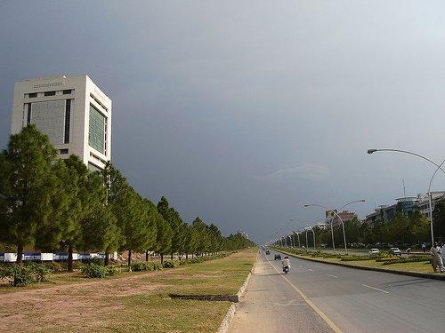 in islamabad work on jinnah avenue underpass speeds up