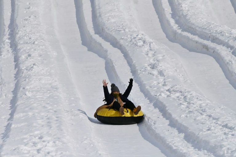 snow problem for japan s ice sculpture festival