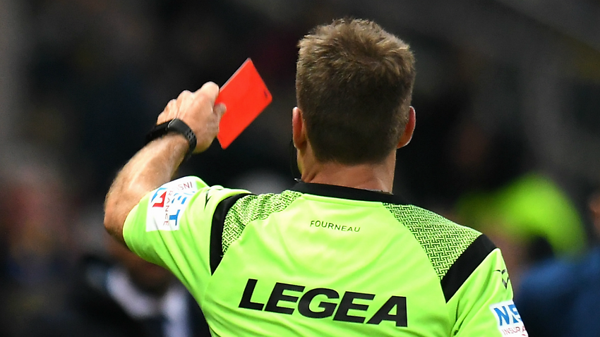 italian referee banned for head butting goalkeeper