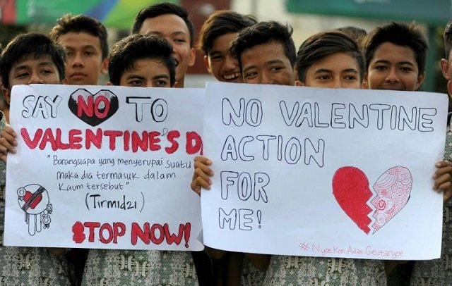 where s the love indonesia says no to valentine s day