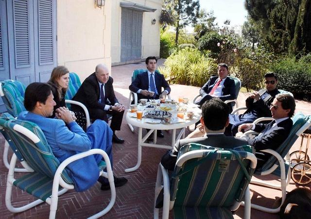 The British royal family, European leaders meet PM Imran Khan. PHOTO: INSTAGRAM