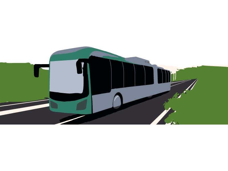red line bus project inches forward