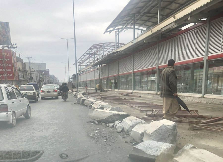 work on peshawar brt in final stages says yousafzai