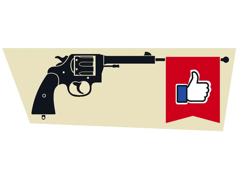 Social media promoting gun culture
