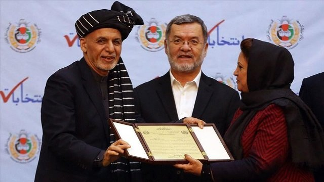 president ghani secures second term as us taliban inch closer to deal photo anadolu agency
