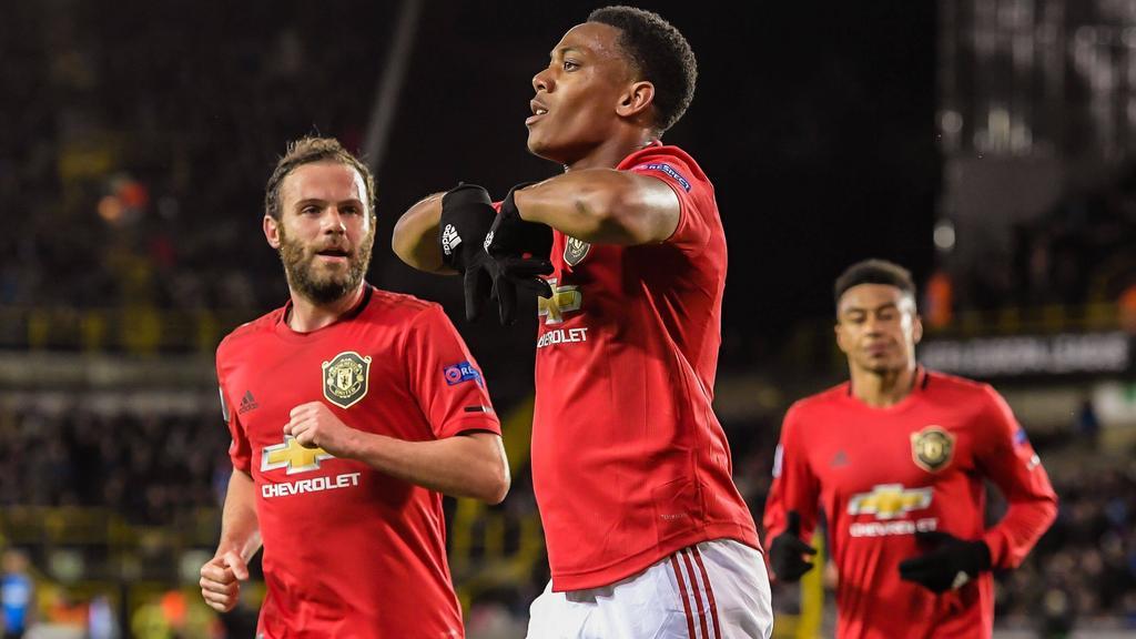 martial grabs key goal for man united in bruges