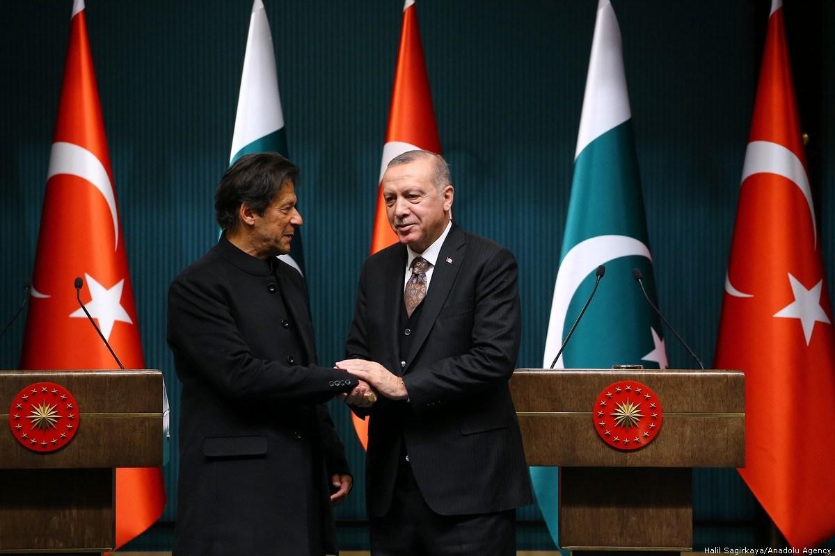 file photo of pm imran khan shaking hands with turkish president recap tayyib erdogan photo anadoul agency
