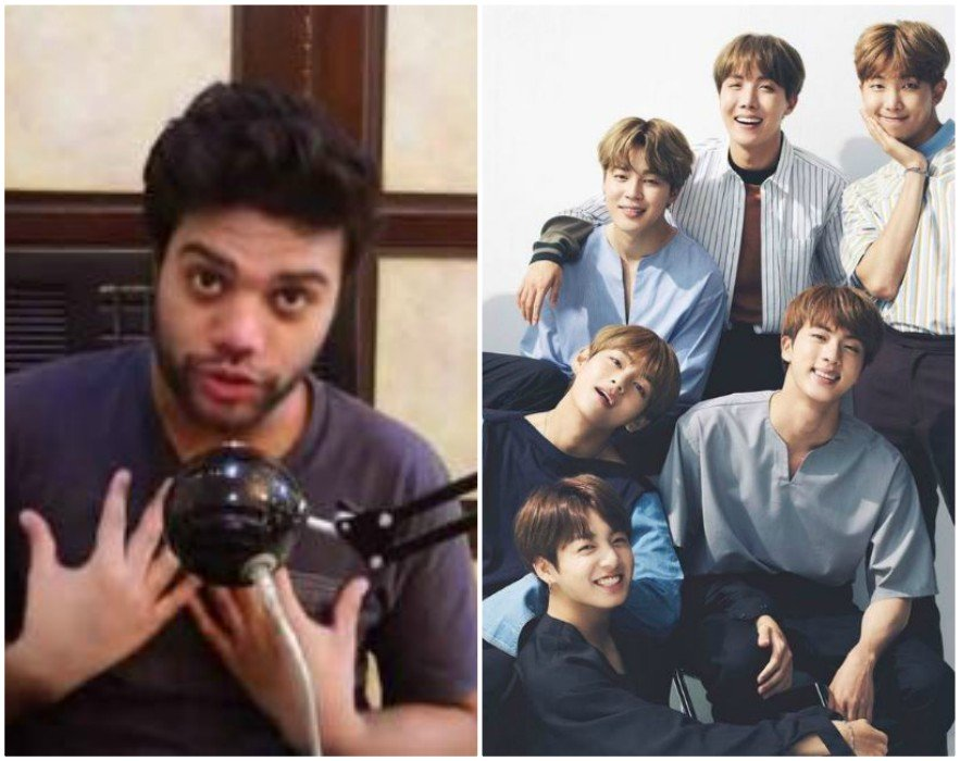ducky bhai faces backlash from bts army after coronavirus joke