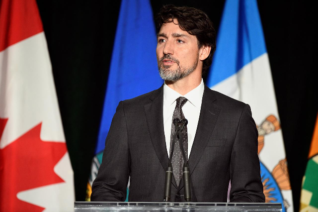 canada pm working from home as wife tested for covid 19