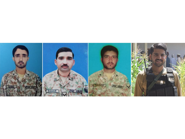 army officer three soldiers martyred in north waziristan operation