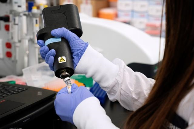 a scientist at rna medicines company arcturus therapeutics research a vaccine for the novel coronavirus covid 19 at a laboratory at san diego california us march 17 2020 photo reuters