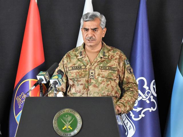 ISPR DG Maj-Gen Babar Iftikhar. PHOTO: ISPR