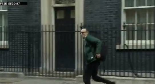 after pm johnson tests positive top adviser sprints from downing street