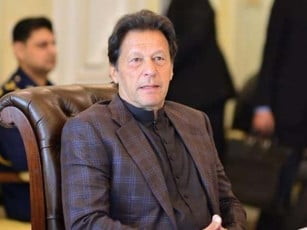 Prime Minister Imran Khan says Kashmir dispute must be resolved in accordance with the relevant UNSC resolutions granting Kashmiri people the right of self determination under a free and fair plebiscite. PHOTO: EXPRESS/FILE