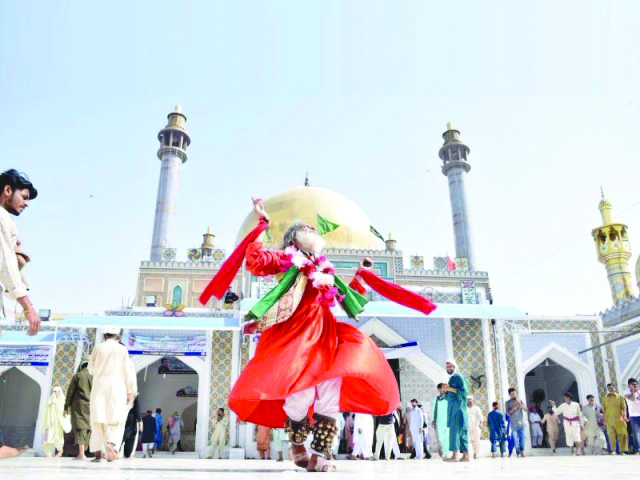 Lal Shahbaz Qalandar's shrine in Sehwan. PHOTO: FILE