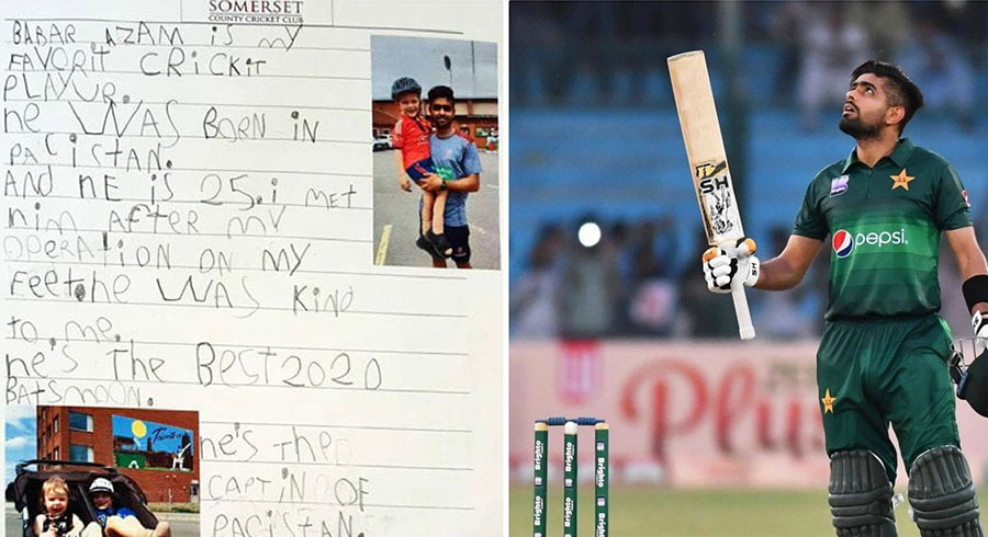 five year old boy s essay on babar azam takes internet by storm