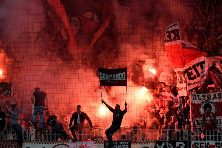 german football fans take fight to virus