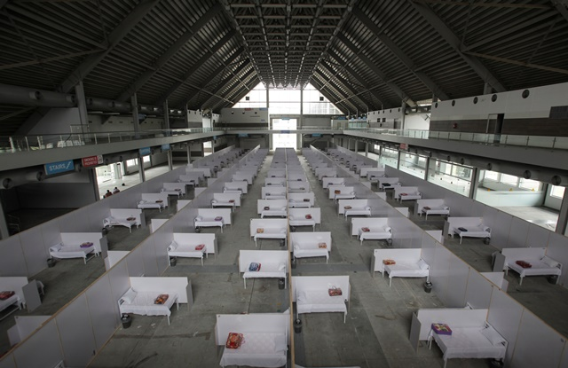 a general view of beds set up at the premises of the expo center after the government turned it into a hospital following the outbreak of coronavirus disease covid 19 in lahore reuters
