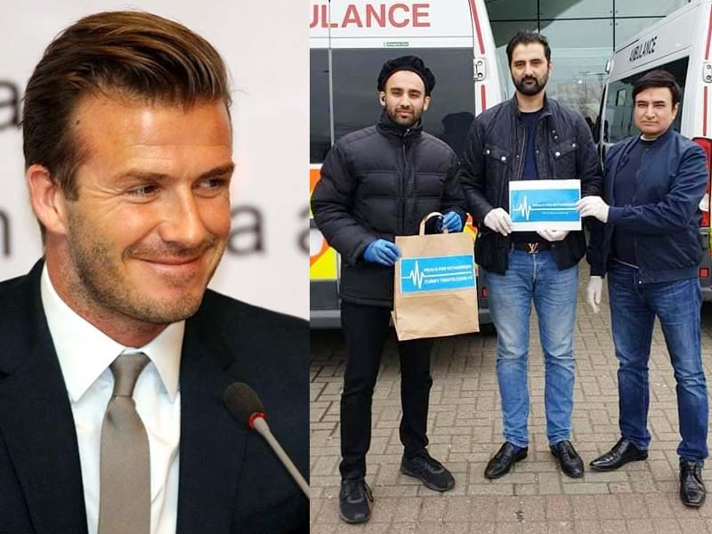 beckham endorses british pakistanis initiative to feed workers fighting covid 19