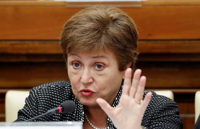 imf managing director kristalina georgieva speaks during a conference hosted by the vatican on economic solidarity at the vatican february 5 2020 photo agencies