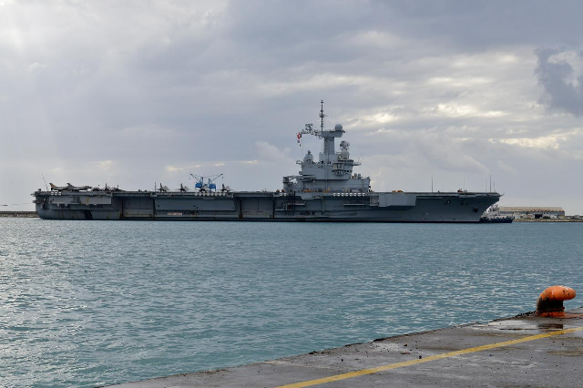 french navy aircraft carrier charles de gaulle is moored at the port of limassol cyprus photo reuters file