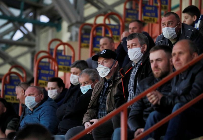 belarus is the only country in europe still playing a national soccer league making it an unlikely draw for fans overseas photo reuters