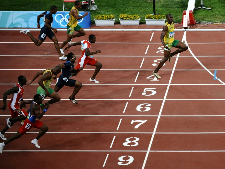 33 year old retired in 2017 with eight olympic gold medals and the current 100m mark of 9 58sec set in 2009 photo afp