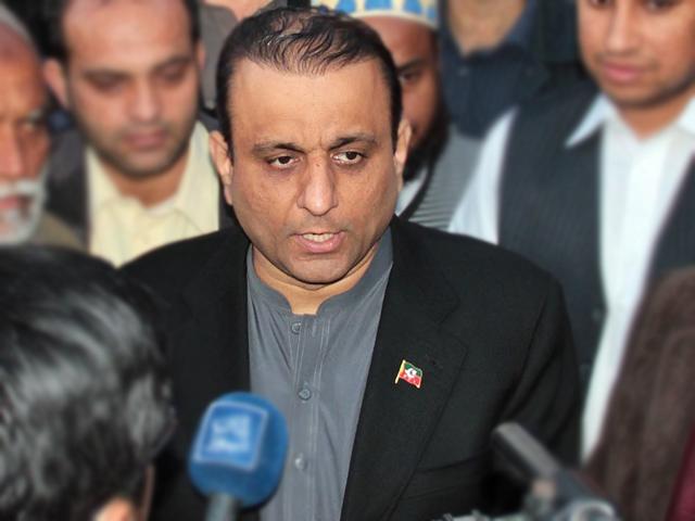 pti leader aleem khan photo file
