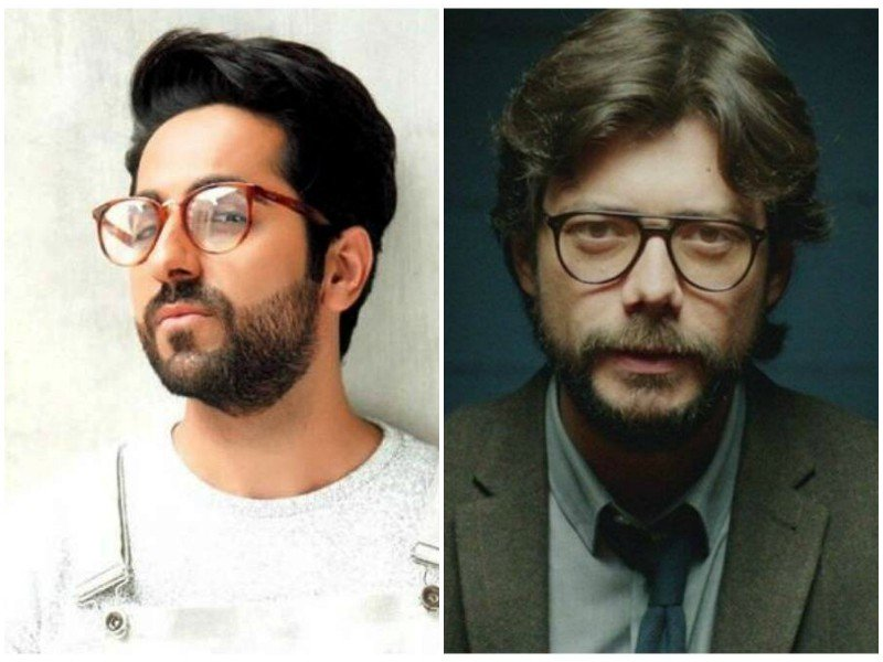 ayushmann khurrana wants to be the professor from money heist
